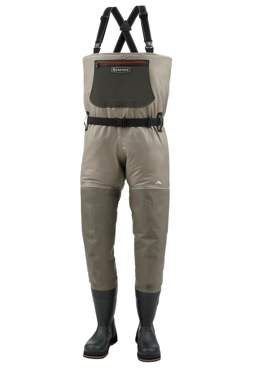 Simms g3 bootfoot waders headhunters fly shop for Fishing waders with boots