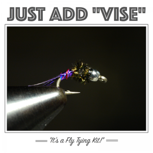 Purple Lightning Bug fly tying kit