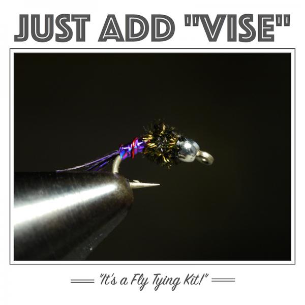 Purple Lightning Bug fly tying kit