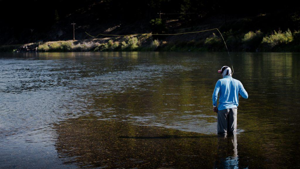 Simon Perkins fly fishing on the Missouri River, Montana