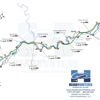 Missouri River Fly Fishing Map