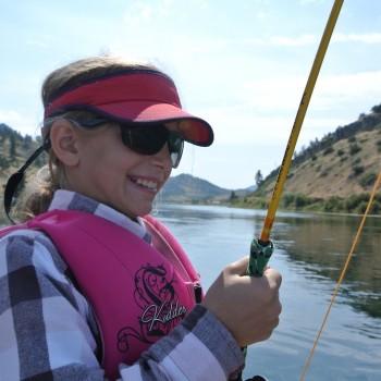 Montana kids fly fishing