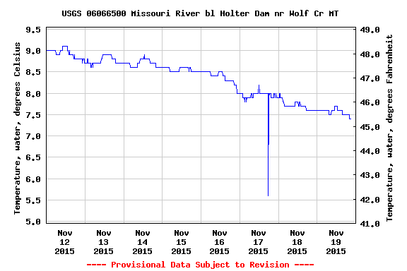 With water temps falling, look toward winter water.