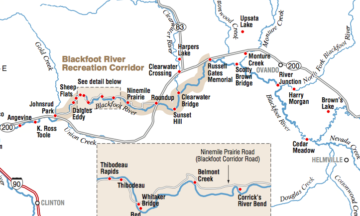 Blackfoot River Map
