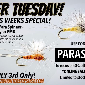 2FER TUESDAY Harrop's Para Spinner Rusty or PMD