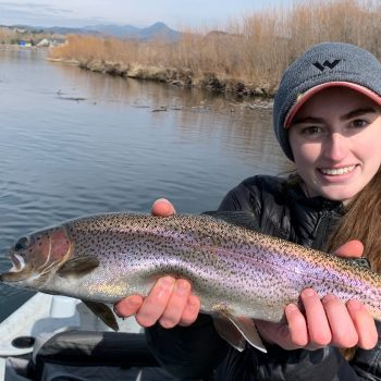 Here's soon to be pre-med student Jesse Dewitt whacking fatties on the Mo over the weekend. Jesse is a fly fishing beast!!